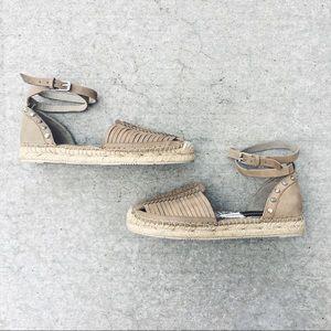 DV Ceyla Leather Ankle Strap Espadrille Sandal